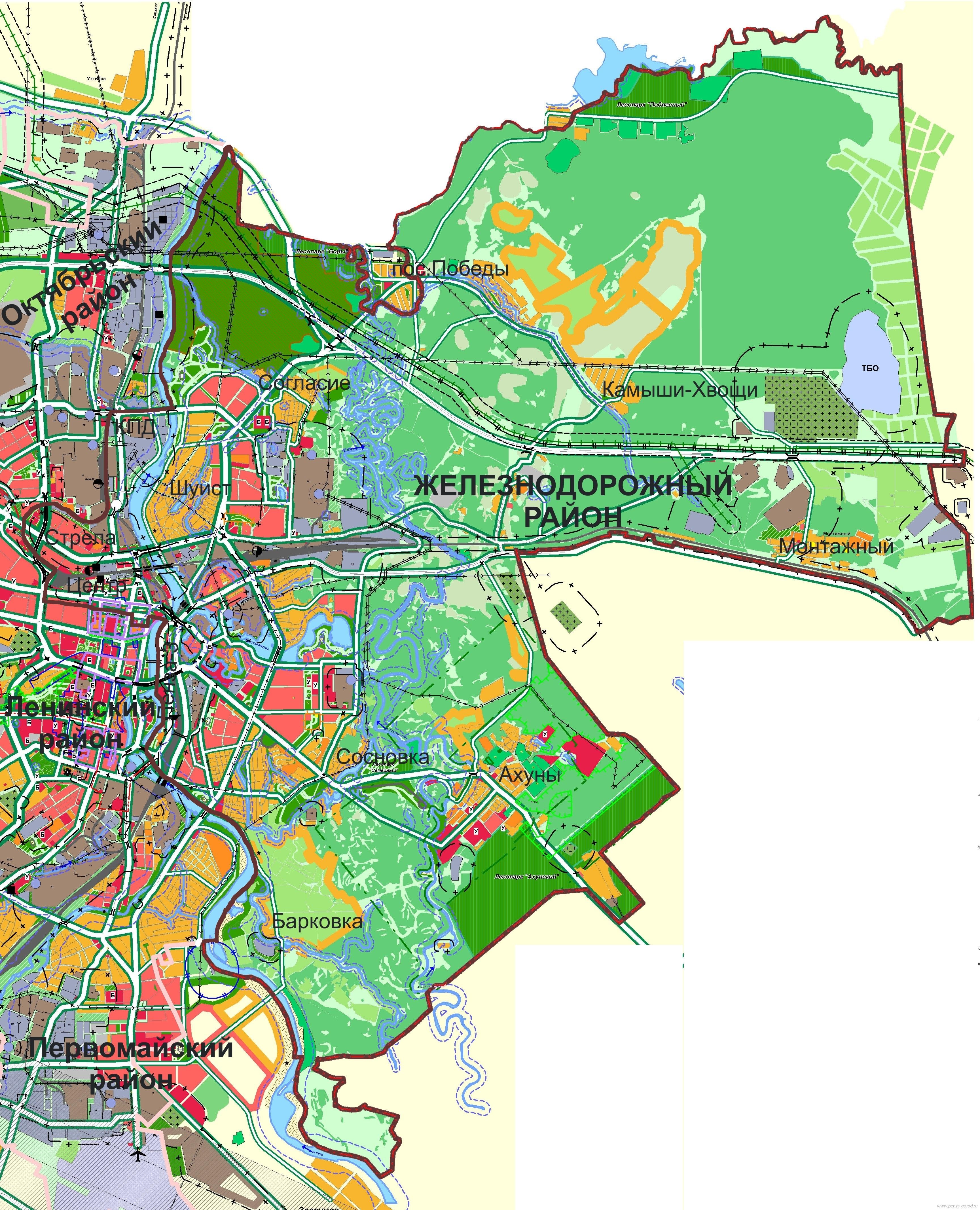 Карта схема улиц г пенза